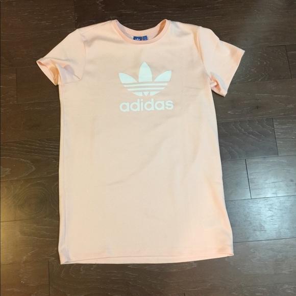 850366cb934 Icy pink adidas size Large trefoil T-shirt dress